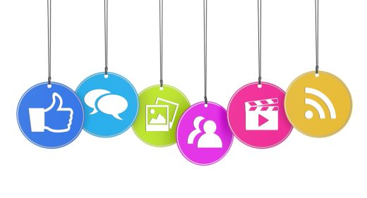 Social media activity icons